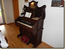 An old pump organ I played for chapel